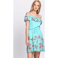 Długie sukienki: Miętowa Sukienka Maxi Floral