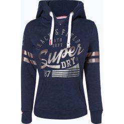 Superdry - Damska bluza nierozpinana, niebieski. Niebieskie bluzy z kapturem damskie Superdry, m, z nadrukiem, z materiału. Za 299,95 zł.