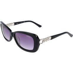"""Okulary przeciwsłoneczne damskie: Okulary przeciwsłoneczne """"GU7453-F"""" w kolorze czarno-srebrnym"""