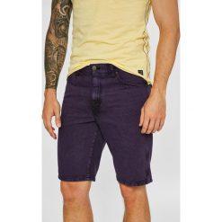 Wrangler - Szorty. Brązowe spodenki jeansowe męskie Wrangler, casualowe. Za 259,90 zł.