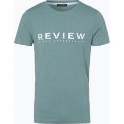 Review - T-shirt męski, zielony. Niebieskie t-shirty męskie z nadrukiem marki Review. Za 39,95 zł.