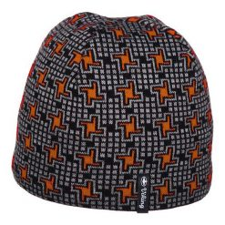 Czapki męskie: Viking Czapka męska Marlon czarno-pomarańczowa (210/12/0423)