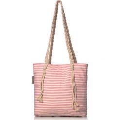 """Torba plażowa """"Eos"""" w kolorze czerwonym - 40 x 50 cm. Czerwone shopper bag damskie Begonville, z bawełny. W wyprzedaży za 108,95 zł."""