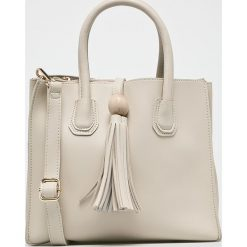 Answear - Torebka. Brązowe torebki klasyczne damskie ANSWEAR, w paski, z materiału, średnie. W wyprzedaży za 59,90 zł.