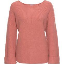 Swetry klasyczne damskie: Sweter, rozszerzane rękawy bonprix dymny brzoskwiniowy