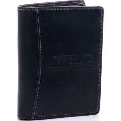 Portfel męski Wild things Only. Czarne portfele męskie Wild, ze skóry. Za 39,90 zł.