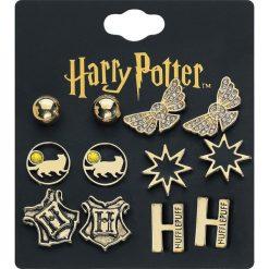 Harry Potter Hufflepuff Kolczyki - Earpin złoty. Żółte kolczyki damskie Harry Potter, złote. Za 79,90 zł.