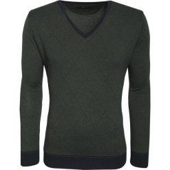 Sweter ENRICO 15-107CS. Szare swetry klasyczne męskie marki Giacomo Conti, na zimę, m, z materiału. Za 199,00 zł.