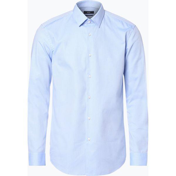 21aa86d086714 BOSS - Koszula męska – Isko, niebieski - Niebieskie koszule męskie ...