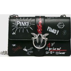 Torebki klasyczne damskie: Pinko - Torebka skórzana Love Graffiti