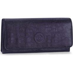 """Portfel """"Brownie"""" w kolorze granatowym - 19 x 10 x 3 cm. Niebieskie portfele męskie Kipling, z tkaniny. W wyprzedaży za 73,95 zł."""