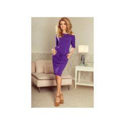 Sukienki: SUKIENKA SPORTOWA CASUAL FIOLETOWA