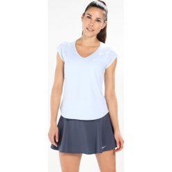 Nike Performance PURE Tshirt basic hydrogen blue/white. Niebieskie topy sportowe damskie marki Nike Performance, xs, z elastanu. W wyprzedaży za 125,30 zł.
