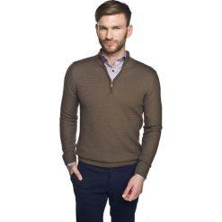 Sweter miret troyer beż. Szare swetry klasyczne męskie marki Recman, m, z kołnierzem typu troyer. Za 259,00 zł.