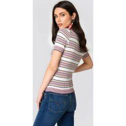 Paski damskie: Trendyol Brokatowy top w paski – Multicolor