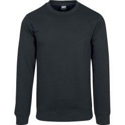 Urban Classics Basic Terry Crew Sweter ciemnoszary. Niebieskie swetry klasyczne męskie marki Urban Classics, l, z okrągłym kołnierzem. Za 94,90 zł.