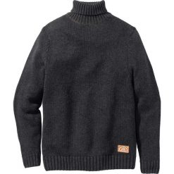 Sweter z golfem Regular Fit bonprix antracytowy melanż. Szare golfy męskie marki bonprix, l, z aplikacjami, ze skóry. Za 109,99 zł.