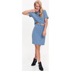 Sukienki: SUKIENKA DAMSKA Z CIEKAWYMI ROZCIĘCIAMI W TALII