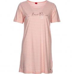 """Koszula nocna """"Soft Dreams"""" w kolorze bało-jasnoróżowym. Białe koszule nocne i halki marki LASCANA, w koronkowe wzory, z koronki. W wyprzedaży za 68,95 zł."""