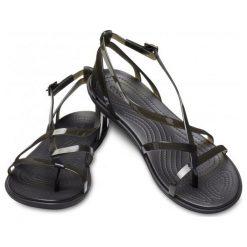 Crocs Damskie Sandały Isabella Gladiator Czarny (39,5). Czarne sandały damskie marki Crocs, w paski. Za 279,00 zł.