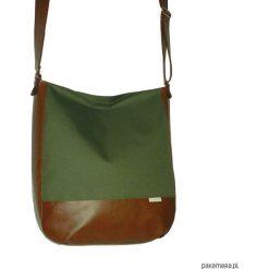 Oliwkowa torba na ramie, listonoszka oliwka. Szare shopper bag damskie marki Pakamera, do ręki, matowe. Za 135,00 zł.