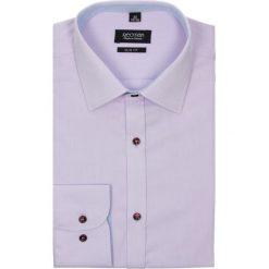 Koszule męskie na spinki: koszula bexley 2028 długi rękaw slim fit w