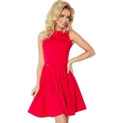 98-2 sukienka koło - dekolt łódka - lacosta czerwona. Czerwone sukienki na komunię marki numoco, na ślub cywilny, l, z elastanu, eleganckie, z klasycznym kołnierzykiem, maxi. Za 131,00 zł.