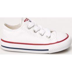 Converse - Tenisówki dziecięce. Szare buty sportowe dziewczęce Converse, z materiału, na sznurówki. Za 169,90 zł.