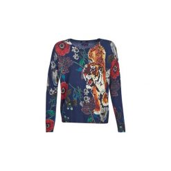 Swetry Desigual  CHIARA. Szare swetry klasyczne damskie Desigual, l. Za 314,10 zł.