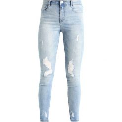 Rurki damskie: Missguided SINNER HIGH WAISTED STEPPED HEM SKINNY Jeans Skinny Fit blue