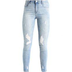 Missguided SINNER HIGH WAISTED STEPPED HEM SKINNY Jeans Skinny Fit blue. Niebieskie jeansy damskie Missguided. Za 159,00 zł.