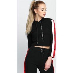 Bluzy damskie: Czarna Bluza Cryptic
