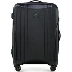 Walizka średnia 56-3P-912-10. Czarne walizki marki Wittchen, z gumy, średnie. Za 279,00 zł.