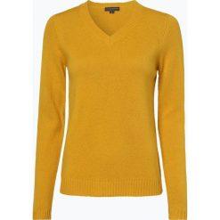 Franco Callegari - Damski sweter z wełny merino, żółty. Zielone swetry klasyczne damskie marki Franco Callegari, z napisami. Za 229,95 zł.