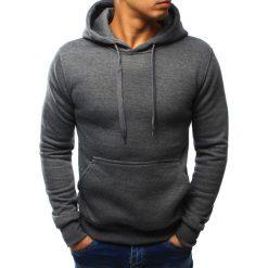 Bluzy męskie: Bluza męska z kapturem antracytowa (bx3017)
