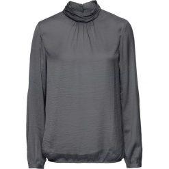 Bluzki asymetryczne: Bluzka satynowa ze stójką bonprix dymny szary