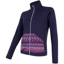 Sensor Bluza Tecnostretch Pattern W Purple S. Czarne bluzy rozpinane damskie marki DOMYOS, z elastanu. W wyprzedaży za 229,00 zł.