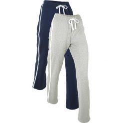Spodnie dresowe damskie: Spodnie dresowe (2 pary), długie bonprix ciemnoniebieski + jasnoszary melanż