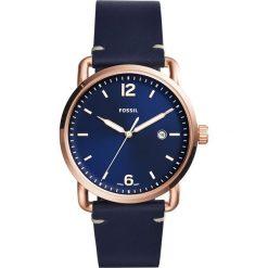 Zegarek FOSSIL - The Commuter 3H Date FS5274 Blue/Rose Gold. Różowe zegarki męskie marki Fossil, szklane. Za 479,00 zł.