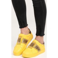 Żółte Buty Sportowe Call My Name. Pomarańczowe buty sportowe damskie marki Born2be, z materiału. Za 79,99 zł.
