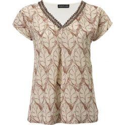 T-shirty damskie: Koszulka w kolorze beżowym