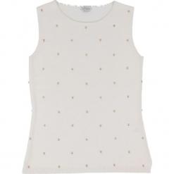 Top kaszmirowy w kolorze białym. Białe topy damskie marki Ateliers de la Maille, z aplikacjami, z kaszmiru. W wyprzedaży za 318,95 zł.