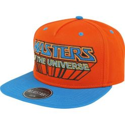 Masters Of The Universe Logo Snapback Cap Czapka Snapback wielokolorowy. Pomarańczowe czapki z daszkiem damskie Masters Of The Universe, z aplikacjami, z tworzywa sztucznego. Za 99,90 zł.