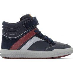 Wysokie trampki Arzach B. C. Niebieskie buty sportowe chłopięce marki Geox, z kauczuku, na sznurówki. Za 335,96 zł.