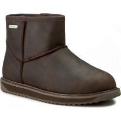 Buty EMU AUSTRALIA - Paterson Leather Mini W11350 Chocolate. Czarne buty zimowe damskie marki Superfit, z gore-texu, przed kolano, na wysokim obcasie. W wyprzedaży za 479,00 zł.