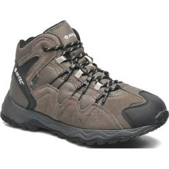 Buty trekkingowe męskie: Hi-tec Buty męskie Multi-Terra Sport Mid WP smokey brown / olive / snow r. 45