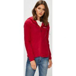 Columbia - Bluza. Czerwone bluzy z kapturem damskie Columbia, s, z dzianiny. W wyprzedaży za 299,90 zł.
