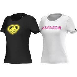 Adidas Koszulka Heart Pack czarna r. M (AI6166). Czarne topy sportowe damskie Adidas, m. Za 88,84 zł.