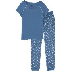 Piżama bonprix niebieski dżins z nadrukiem. Niebieskie piżamy damskie bonprix, z nadrukiem. Za 59,99 zł.