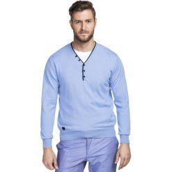 Sweter SERAFINO 15-02JK. Niebieskie swetry klasyczne męskie marki Giacomo Conti, m, z tkaniny, klasyczne. Za 169,00 zł.